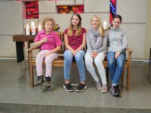 Die Jugendlichen des kirchlichen Unterricht 2016